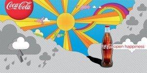 Coca-cola brand open happiness advertisement